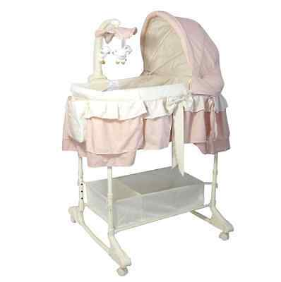 Brand New Baby Infant Rocking Bassinet Cot Bed PINK
