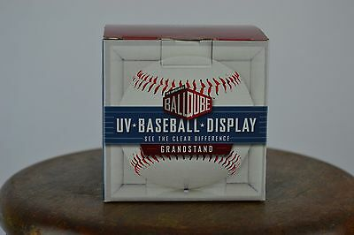 Baseball Display Case BallQube with UV Protection and Craddle - Ball Cube USA