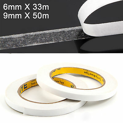 2 X Rolls Portable Double Sided Adhesive Sticky Tape,Super Strong&Economy White