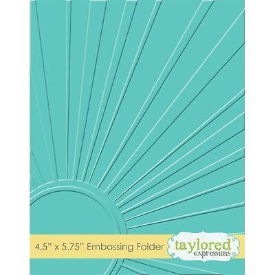 Taylored Expressions Embossing Folder - Walking on Sunshine - TEEF14