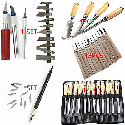 Wood Carving Hand Chisels Graver Knife Cutting DIY Tool Set Kit for Woodworking