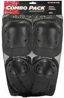 187 Combo Pack - Knee And Elbow Pads - Size Large To Xl - Black