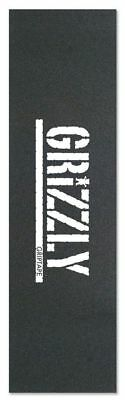 "GRIZZLY SKATEBOARD GRIP TAPE SHEET - 9"" x 33"" - STAMP WHITE"