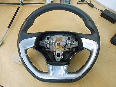 Citroen Ds3 2011 Black Leather Steering Wheel With Silver Trim No Air Bag