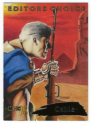 1998 Marvel trading cards EDITORS CHOICE Card #2 of 12 CABLE.