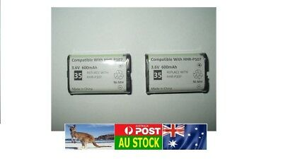 .2 x Generic Grade-A 800mAh 3.6V Ni-Mh rechargeable battery for HHR-P107 CTB98