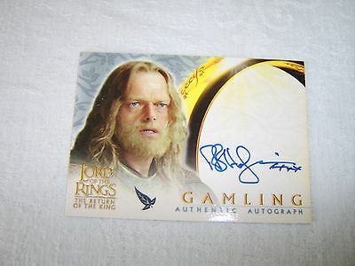 Lord of the Rings Return of the King - Gamling Bruce Hopkins / Autograph Card