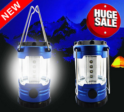 12 LED Portable Camping Torch Battery Operated Lantern Night Light Tent Lamp
