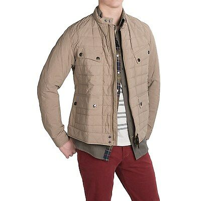 NEW Barbour Steve McQueen Chris Quilted Jacket - US Size Medium (UK Large) Tan