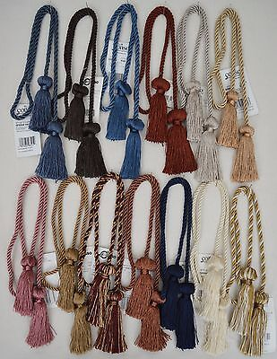 "Curtain & Chair Tie Back -27""spread with 3"" double tassel - 24 colors!!!"