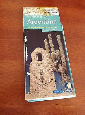 The Rough Guide Map ARGENTINA - Rip-Proof Waterproof Plastic Map