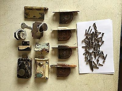 Antique Door Locks & Window Sash Pulleys Misc. Lot Parts
