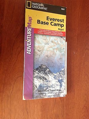 Everest Base Camp Adventure Map 2000 by National Geographic