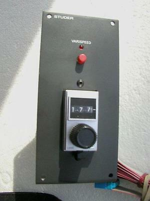 VARISPEED CONTROLLER FOR STUDER A810 & B67 A807 A812 A816 A820 Check in  Manual