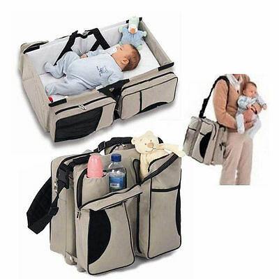 Modern Diaper Tote Bag Bassinet Change Station Bed Nappy Infant Carrycot DH