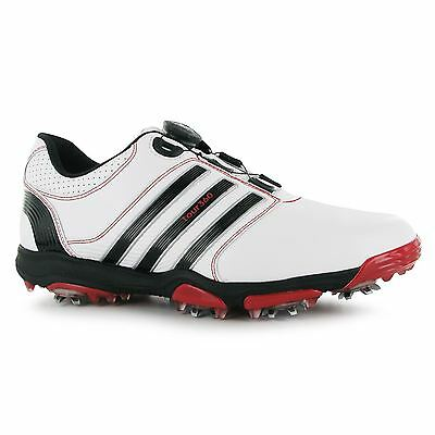 adidas Tour 360 Boa Uomo Scarpe golf White/Black/Red