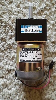 DME60B6HF-187 119 RPM 24Volt DC Gear Ratio 1/36 no. 2725 New Old Stock