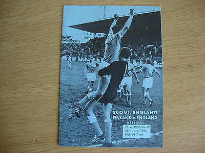 1966 Finland v England - Pre 1966 World Cup Friendly - EXCELLENT Condition