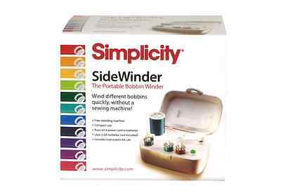 Portable Bobbin Winder Simplicity SideWinder Deluxe Sewing 88175 New