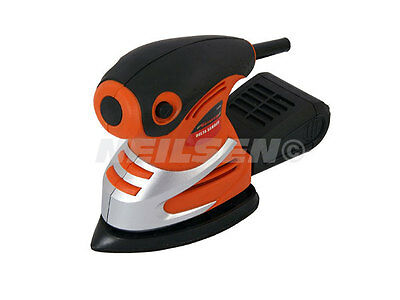 Neilsen 130W Electric Detail Palm Mouse Sander With 1 Sanding Pad Woodwork