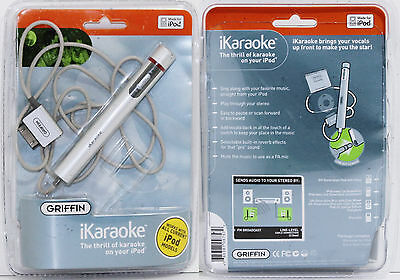 Griffin iKaraoke Microphone W/ 30Pin Apple Connection for iPod iPhone $0 S&H