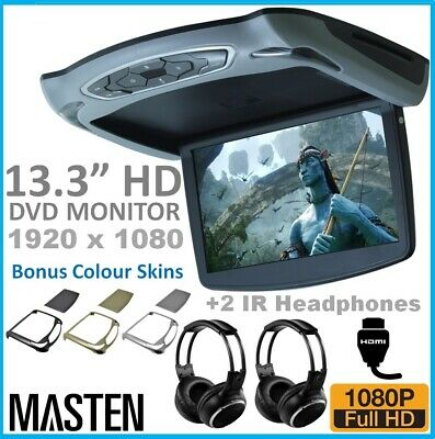"*13"" LCD HDMI Car Ceiling Flip Down Overhead Roof Mount Digital Screen Monitor"