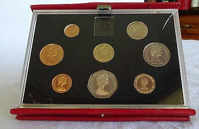 1984 United Kingdom Proof Coin Collection Set Royal Mint pence pound England