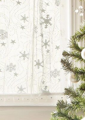 Heritage Lace Tier Wind CHILL with Trim 45x30 WHITE Made in USA
