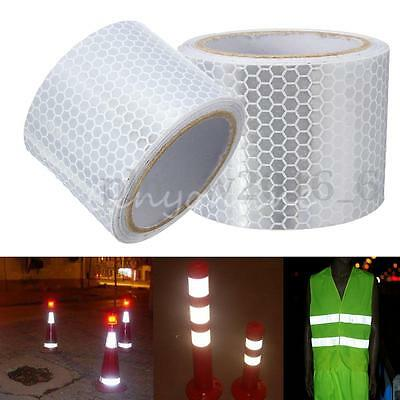 5cm X 3meters Silver White Reflective Safety Warning Conspicuity Tape Sticker