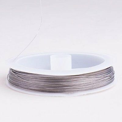 Tiger Tail Wire for Pearl Thread - 90m / 0.38 mm / Silver SH