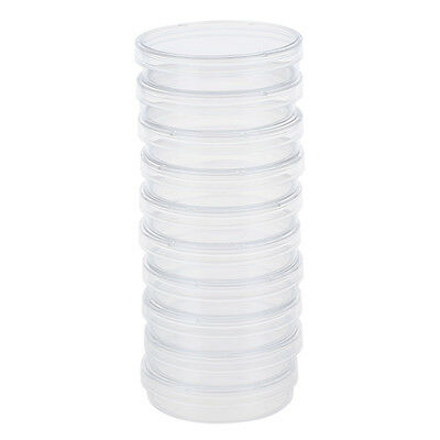 10 pcs 60mm x 15mm polystyrene sterilized Petri dishes with lids Clear SH
