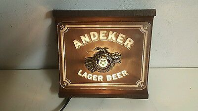 vintage pabst brewing company andeker lager beer light up sign