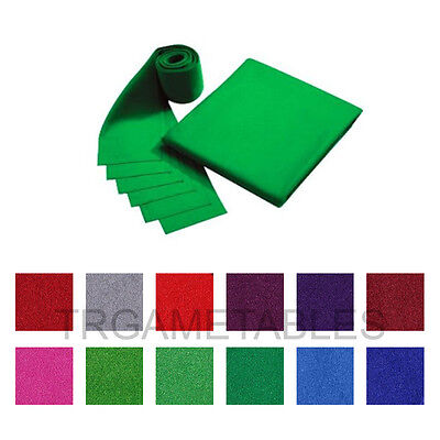 "Double-sided Pool Table Cloth & 6 Felt Strips for 9"" Snooker Billiards Table AU"