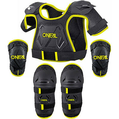 NEW Oneal Youth Motocross Hi-Viz PEEWEE Chest Elbow Knee Toddler Armour Bundle