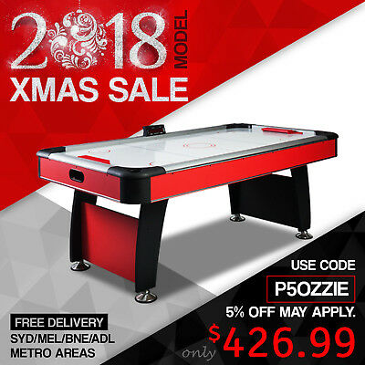 7FT Stylish Design Quality Air Hockey Table with E-Scorer Red Colour AU Post