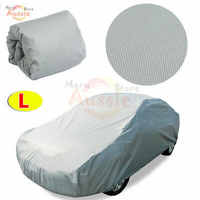Universal Large Waterproof Car Cover Anti Dust Scratch UV Resistant Protection