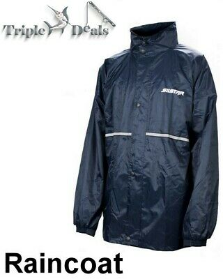 New Silstar Waterproof Raincoat - Rain Jacket with Zip and Button Up Front