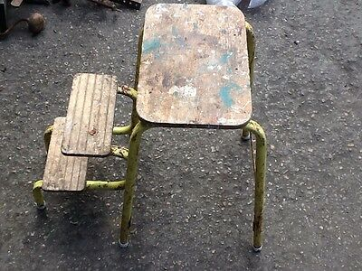 Reclaimed VintageSteps Stool with folding steps