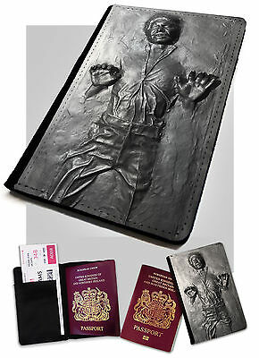 Solo in Carbonite Printed Faux Leather Passport Holder Cover Star Wars .