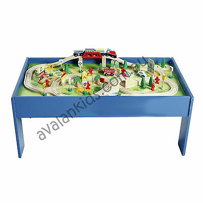 Wooden Train Table Set Toy 90 Piece Thomas The Tank Avalan Kids Activity