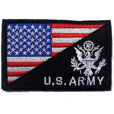 Usa Flag & U.s. Army Morale Badge Tactical Military Patches Embroidery Patch *01