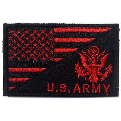 Usa Flag & U.s. Army Morale Badge Tactical Military Patches Embroidery Patch *03