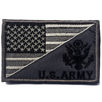 Usa Flag & U.s. Army Morale Badge Tactical Military Patches Embroidery Patch *04