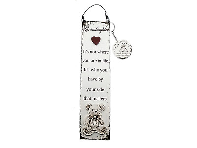 Wall Plaque Grandaughter With Keyring It's Not Where You Are In Life Sign F1388K