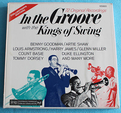 6 LP BOX In The Groove with the Kings of Swing - RCA Swiss + all Inserts
