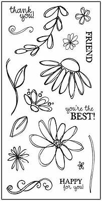 FISKARS Clear Stamps ***8249 PETALS FROM SCRATCH***