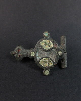 Superb ancient Roman enameled bronze bird brooch Ex- McAlpine collection