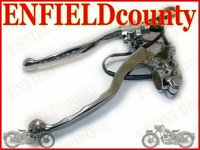 NEW ROYAL ENFIELD PAIR CHROME BRAKE & CLUTCH LEVERS @AEs