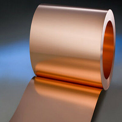 Copper Sheet - 0.3mm Thick 500mm wide Various Lengths Available Ideal for Lining