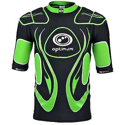 Optimum Inferno Junior Protection Top - Black and Green